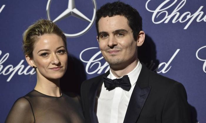 Olivia Hamilton e Damien Chazelle Foto: Jordan Strauss / Jordan Strauss/Invision/AP