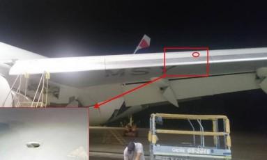 Avião da Latam está na base de São Carlos, interior de SP Foto: reprodução/internet
