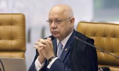 O ministro Teori Zavascki durante sessão de encerramento de ano forense do STF Foto: Nelson Júnior / Divulgação / STF