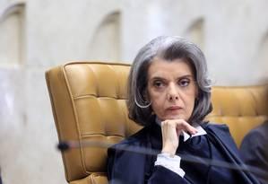 A ministra Cármen Lúcia, durante sessão do STF Foto: Fellipe Sampaio/STF/12-09-2016