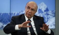 O ministro da Fazenda, Henrique Meirelles, participa de encontro em Davos Foto: RUBEN SPRICH / REUTERS