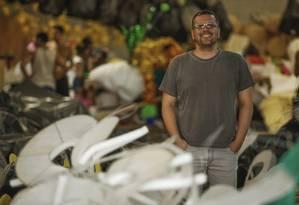 O carmavalesco Jack Vasconcelos acredita que o enredo criará um elo entre a agremiação e o público Foto: Guilherme Leporace / Agência O Globo