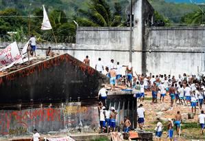 Rebelião em presídio do Rio Grande do Norte já dura cinco dias Foto: ANDRESSA ANHOLETE / AFP