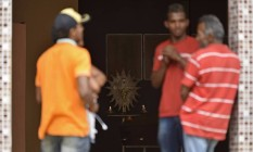Funeral de Wellington Santos Cardoso, que morreu aos 33 anos na cidade mineira de Caratinga. A causa provável da morte é febre amarela Foto: Douglas MAGNO/AFP