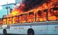Ônibus é incendiado em Natal Foto: Divulgação PM-RN