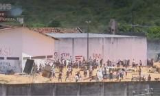 Detentos entram em confronto de facções em presídio no RN Foto: Reprodução GLOBONEWS