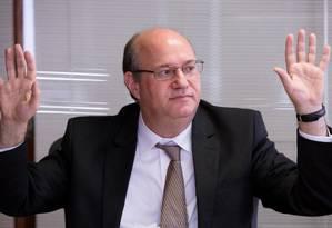 Ilan Goldfajn, presidente do BC Foto: Lula Marques / Bloomberg