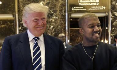 Donald Trump e Kanye West se encontraram na Trump Tower em dezembro de 2016 Foto: Seth Wenig / AP
