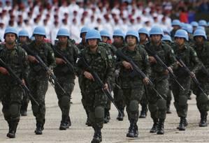 Exército Brasileiro Foto: Michel Filho / Agência O Globo
