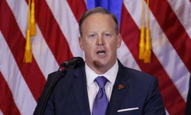 Sean Spicer, porta-voz de Trump Foto: LUCAS JACKSON / REUTERS