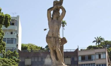 A imagem do São Sebastião, na Glória Foto: Divulgação