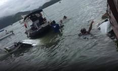 Avião bimotor cai no mar próximo a Paraty Foto: Marinha/Divulgação