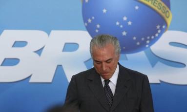 O presidente Michel Temer Foto: Ailton de Freitas / Agência O Globo / 13-12-2016