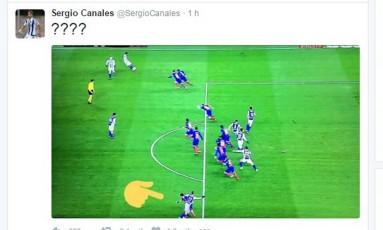 Canales questiona impedimento em derrota do Real Sociedad para o Barcelona Foto: Reprodução