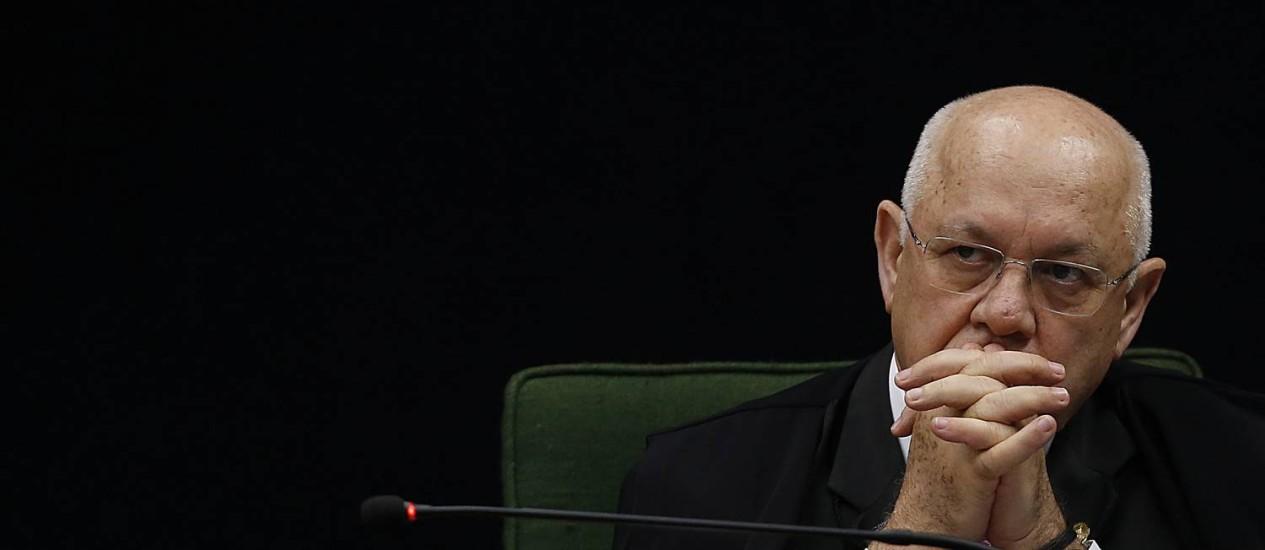 O ministro Teori Zavascki, do Supremo Tribunal Federal Foto: Jorge William / Jorge William/11-10-2016