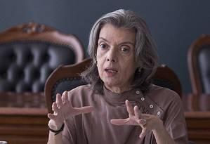 A presidente do STF, Cármen Lúcia Foto: Jorge William / Agência O Globo