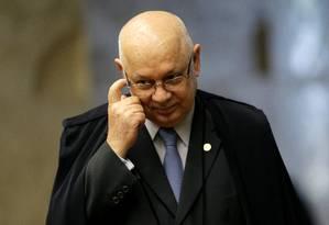 O ministro Teori Zavascki, do Supremo Tribunal Federal Foto: Ueslei Marcelino / Reuters / 11-03-2015
