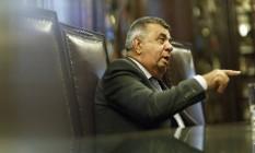Deputado Jorge Picciani afirmou que plano de recuperação fiscal prevê R$ 4,5 bilhões em empréstimos Foto: Fernando Lemos / Agência O Globo