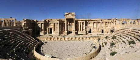 Teatro romano na cidade histórica de Palmira, na Síria Foto: © Omar Sanadiki / Reuters / REUTERS
