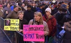 Multidão se reúne em Washington para posse de Trump Foto: Reprodução / Twitter