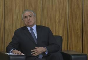 Temer deve fazer escolha rápida de substituto de Teori para evitar pressão Foto: Ailton de Freitas / Agência O Globo 19/01/2017