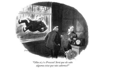 """SC Charge da revista """"New Yorker"""" na década de 1950 Foto: Divulgação"""