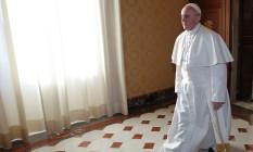 Papa Francisco enviou mensagem sobre ética e cuidado com os pobres a Donald Trump Foto: MAX ROSSI / AFP