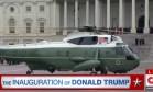 Obama e Michelle usaram um helicóptero militar ao deixar a cerimônia de posse do republicano Donald Trump Foto: Reprodução