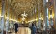 Galeria dos Espelhos. Salão lembra a imponência de Versalhes Foto: Claudia Sarmento / Fotos de Claudia Sarmento