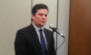 Juiz Sérgio Moro participa de velório do corpo : 'Teori foi um verdadeiro herói' Foto: Reprodução vídeo