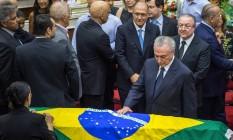 Michel Temer lamenta a morte do ministro do Supremo Teori Zavasck Foto: JEFFERSON BERNARDES / AFP