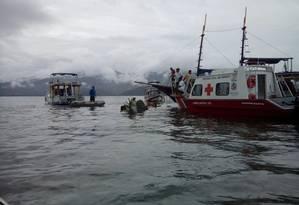 Avião com o ministro do supremo Teori Zavascki caiu no mar próximo a Paraty Foto: Douglas Prado / Agência O Globo