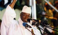 Yahya Jammeh sorri durante uma manifestação em Banjul, Gâmbia Foto: © Thierry Gouegnon / Reuters / REUTERS