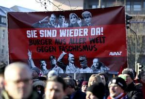 A cúpula, na cidade de Koblenz, na Alemanha, foi acompanhada de perto por cerca de três mil manifestantes Foto: KAI PFAFFENBACH / REUTERS