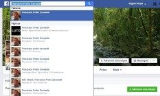 Busca no Facebbok mostra várias páginas com o nome do filho de Teori Zavascki Foto: Reprodução