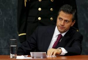 Enrique Peña Nieto, presidente do México Foto: Edgard Garrido / Reuters/29-5-2015