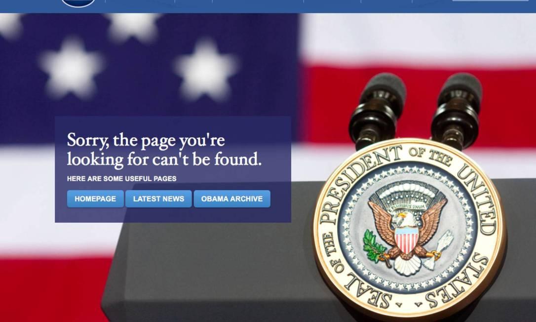 Casa Branca elimina link em espanhol do site oficial