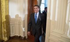 Conselheiro de Segurança Nacional, o general reformado Michael Flynn chega à Casa Branca Foto: Andrew Harnik / AP