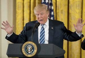 Trump já ocupa a Casa Branca Foto: Andrew Harnik/AP