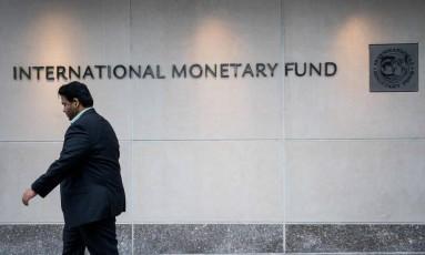 Sede do Fundo Monetário Internacional, em Washington. Foto: Zach Gibson/AFP