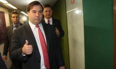 O presidente da Câmara dos Deputados, Rodrigo Maia (DEM-RJ), durante entrevista Foto: Ailton de Freitas/Agência O Globo/05-01-2016