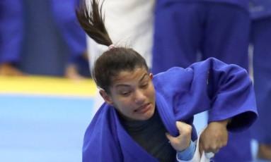 Nos 48kg. Sarah faz um dos últimos treinos antes de competir no Rio-2016 Foto: Marcelo Carnaval