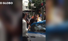 Boliviano é flagrado tentando arrombar porta da Lojas Americanas Foto: Reprodução