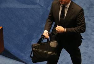 Moro no Congresso: Supremo rejeitou 48 dos 59 habeas corpus ou recursos contra decisões do juiz Foto: Ailton de Freitas / Agência O Globo