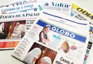 Jornais de grande circulação no país Foto: Lucas Tavares