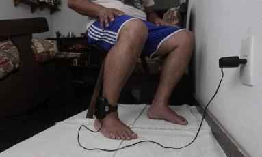 Monitoramento à distância de preso por tornozeleira eletrônica Foto: Fábio Guimarães/20-3-2014