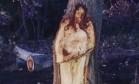 'Jesus' aparece em tronco de árvore que seria derrubada Foto: Reprodução