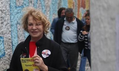 A ex-primeira-dama Marisa Letícia Foto: Pedro Kirilos / Agência O Globo / 22/09/2016