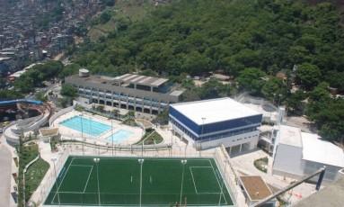 Complexo Esportivo da Rocinha, uma das obras do PAC na comunidade, e que foi inaugurado pela Secretaria estadual de Obras do Rio em fevereiro de 2010. Foto: Foto de divulgação