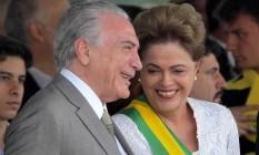 Dilma Rousseff e Michel Temer, durante o desfile de 7 de setembro, em 2015 Foto: Ailton de Freitas